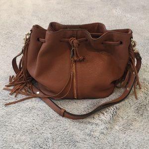 Brown leather Rebecca Minkoff Fiona bucket bag